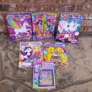 Lisa Frank Color Book Lot & Glitter Art